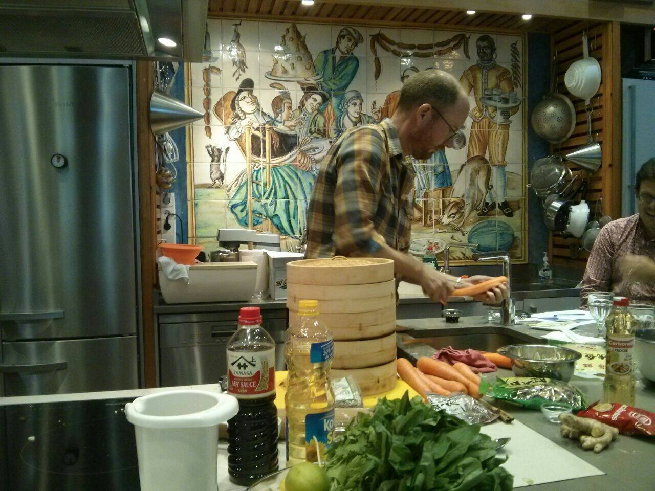Matthew Scott clases de cocina de New Orleans en Alambique - Gumbo Madrid